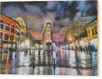 Gastown Wood Print by Jim  Hatch