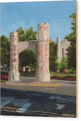 Gate On Parrington Oval At Ou Wood Print