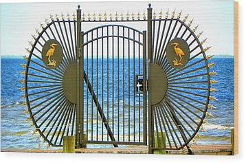 Gate To Paradise Wood Print