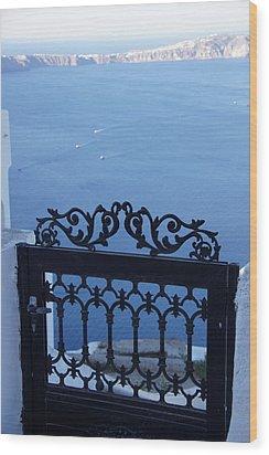 Gated Caldera Wood Print
