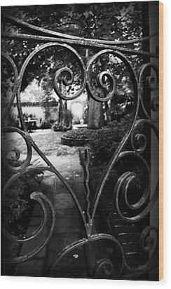 Gated Heart Wood Print