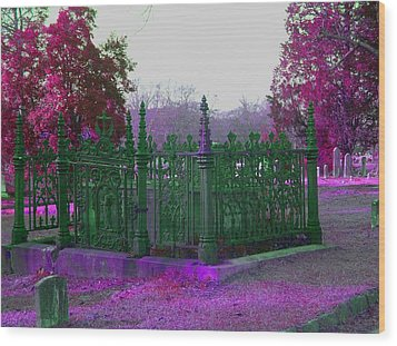 Wood Print featuring the photograph Gated Tomb by Cleaster Cotton