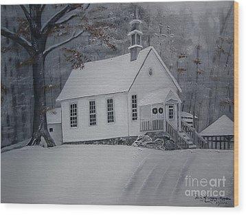 Gates Chapel - Ellijay - Signed By Artist Wood Print by Jan Dappen