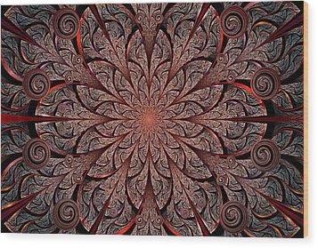Gates Of Fire Wood Print by Anastasiya Malakhova