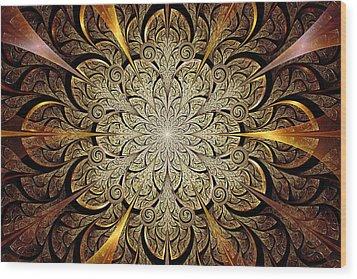 Gates Of Light Wood Print by Anastasiya Malakhova