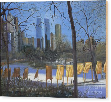 Gates Of New York Wood Print by Marlene Book