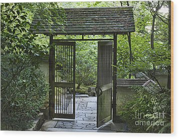 Gates Of Tranquility Wood Print by Sandra Bronstein