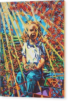 Gates To The Garden Wood Print by Greg Skrtic