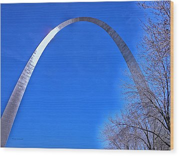 Gateway Arch St Louis 03 Wood Print by Thomas Woolworth