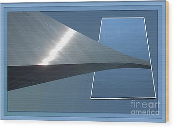 Gateway Arch St Louis 06 Wood Print by Thomas Woolworth