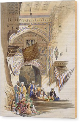 Gateway Of A Bazaar, Grand Cairo, Pub Wood Print by A. Margaretta Burr