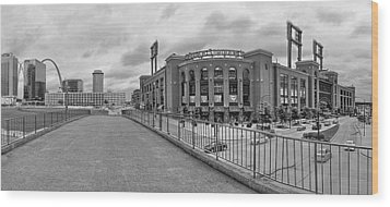 Gateway To Busch Black And White Wood Print