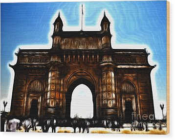 Gateway To Fractalius Wood Print