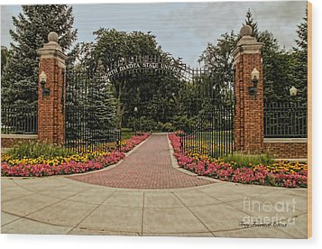 Wood Print featuring the photograph Gateway To Ndsu by Trey Foerster