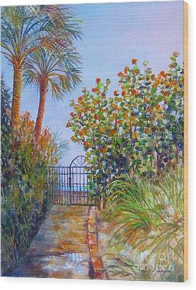 Gateway To Paradise Wood Print by Lou Ann Bagnall