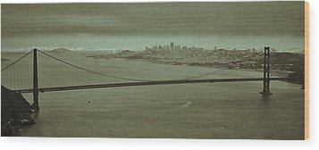 Gateway To The Bay Wood Print by Dave Hall