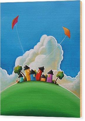 Gather Round Wood Print by Cindy Thornton