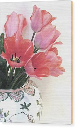 Gathered Tulips Wood Print