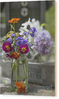 Gathering Wildflowers Wood Print by Edward Fielding