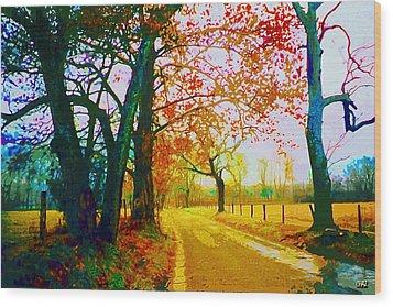 Gatlinburg In The Rain Wood Print by CHAZ Daugherty
