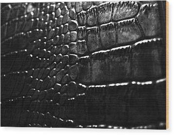 Gator Wood Print by Anthony Cummigs