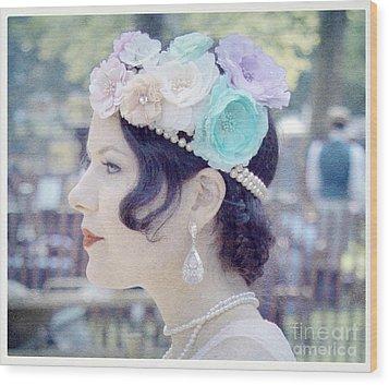 Gatsby Girl  Wood Print