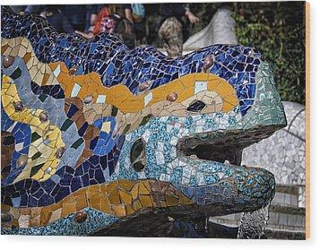 Gaudi Dragon Wood Print