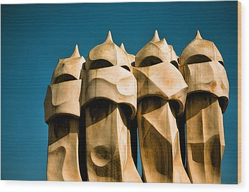 Gaudi's Soldiers  Wood Print by Joanna Madloch