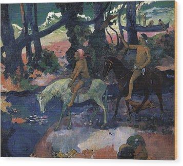 Gauguin, Paul 1848-1903. Ford Running Wood Print by Everett