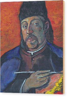 Gauguin Wood Print by Tom Roderick