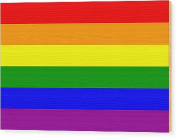 Gay Pride Flag Wood Print