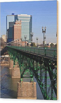 Gay Street Bridge Knoxville Wood Print