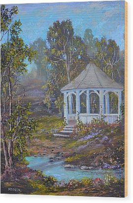 Gazebo And A Dream Wood Print