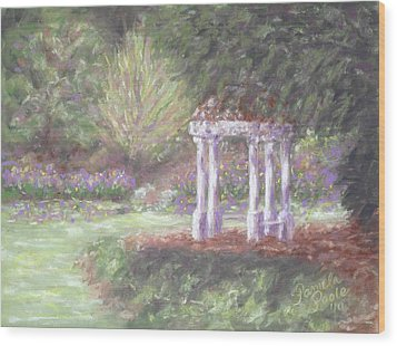 Gazebo At Hopelands In Spring Wood Print