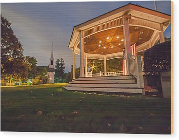 Gazebo Wood Print by Brian MacLean
