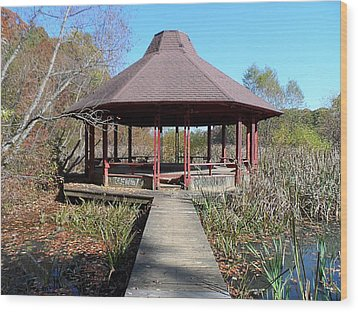 Wood Print featuring the photograph Gazebo by Philomena Zito