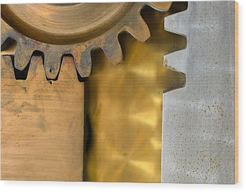 Gear Abstract Wood Print by Bill Mock