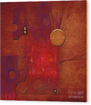 Wood Print featuring the digital art Gear by Alexa Szlavics