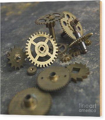 Gears Wood Print by Bernard Jaubert