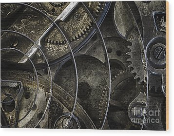 Wood Print featuring the photograph Gears by Vicki DeVico