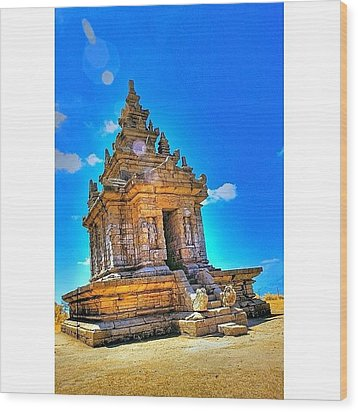 Gedong Songo (indonesian: Candi Gedong Wood Print by Tommy Tjahjono