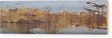 Geese Flying In Wood Print by Jani Freimann
