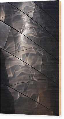 Gehry Magic Wood Print by Rona Black