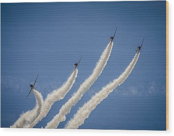 Wood Print featuring the photograph Geico Sky Typers 2 by Bradley Clay