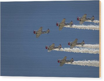 Wood Print featuring the photograph Geico Sky Typers  by Bradley Clay