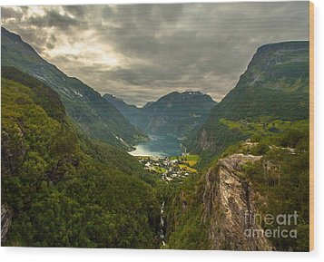 Wood Print featuring the photograph Geiranger by Rose-MariesPictures