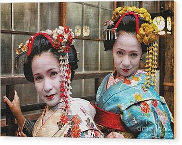 Wood Print featuring the photograph Geisha 2 by John Swartz