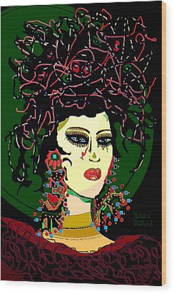 Geisha 6 Wood Print by Natalie Holland