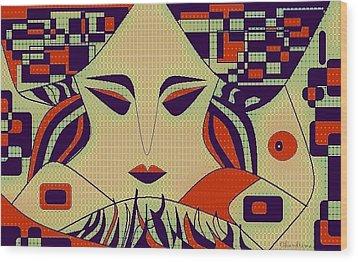 Geisha Wood Print by Chandrima Dhar