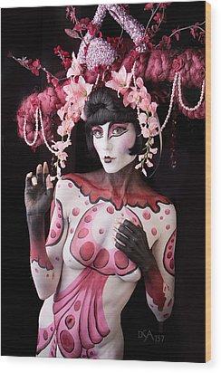Geisha I Wood Print by David April